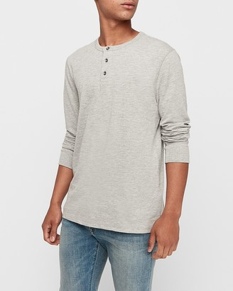 Express Long Sleeve Slub Henley