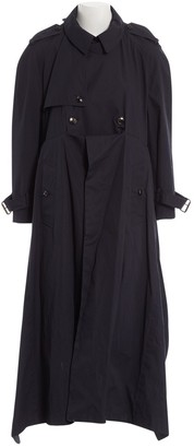 Balenciaga Blue Cotton Trench Coat for Women