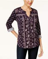Style&Co. Style & Co Printed Utility Shirt, Created for Macy's