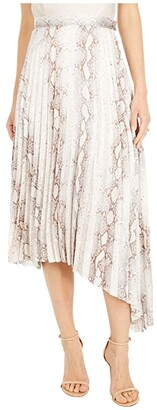 Bishop + Young Untamed Pleated Midi Skirt (Natural Python) Women's Skirt