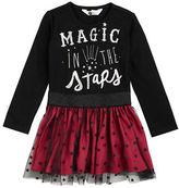 Petit Lem Girls 2-6x Magical Mischief Graphic Print Tulle Dress
