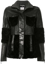 Chanel Pre Owned patchwork long sleeve jacket