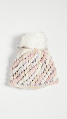 Jocelyn Knitted Faux Fur Pineapple Hat