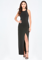 Bebe Leah High Slit Gown
