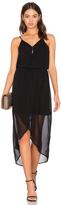 Bobi BLACK Mixed Chiffon Wrap Dress