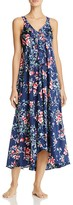 Oscar de la Renta Floral Ruffle Nightgown
