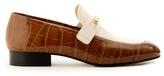 Joseph Bi-colour crocodile-effect leather loafers