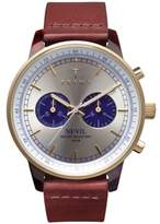 Triwa Blue Nevil Chronograph Leather Strap Watch, 38mm