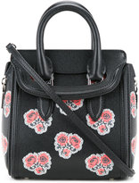 Alexander McQueen floral Mini Heroine tote - women - Calf Leather/Brass - One Size