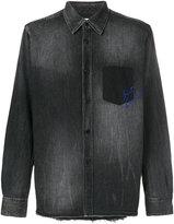 Saint Laurent shadow pocket embroidered shirt
