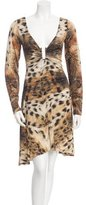 Just Cavalli Animal Print Long Sleeve Dress