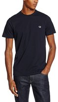 Fred Perry Men's Crew Neck T-shirt, White, X-large