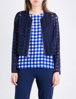 Diane von Furstenberg Cropped fitted jacquard jacket