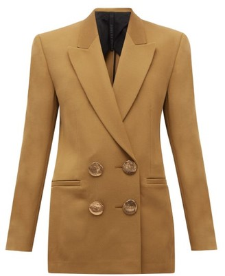 Petar Petrov Jimi Double-breasted Wool-twill Jacket - Khaki