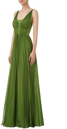 AMUR Adele Silk Maxi Dress