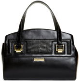 Brooks Brothers Exotic Embossed Calfskin Small Satchel