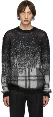 Isabel Benenato Black and White Gradient Sweater