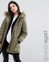 Vero Moda Petite Faux Fur Hooded Parker Jacket
