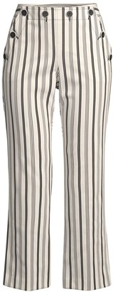 Trina Turk Lyric Striped Cropped Pants