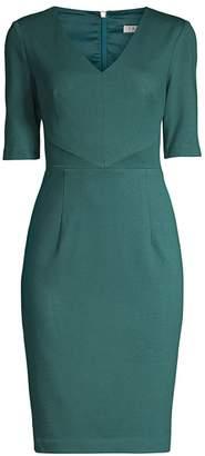 Trina Turk Eastern Luxe Locale Elbow-Sleeve Sheath Dress