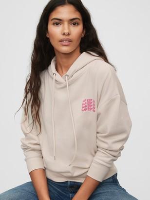 Gap Logo Cropped Pullover Hoodie