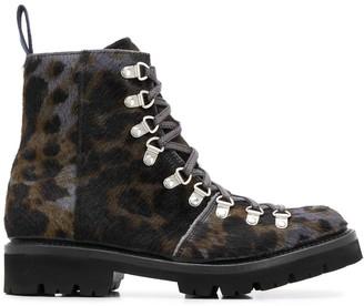 Grenson Nanette leopard-print boots