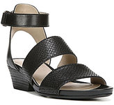 Naturalizer Gracelyn Leather Banded Hook and Loop Low Wedge Sandals
