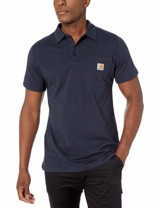 Carhartt Men's Tall Big & Tall Force Cotton Delmont Pocket Polo