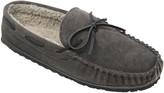 Minnetonka Men's Casey Slip-On Charcoal Moccasin Slippers