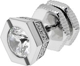 Lynx Cubic Zirconia Stainless Steel Stud - Single Earring