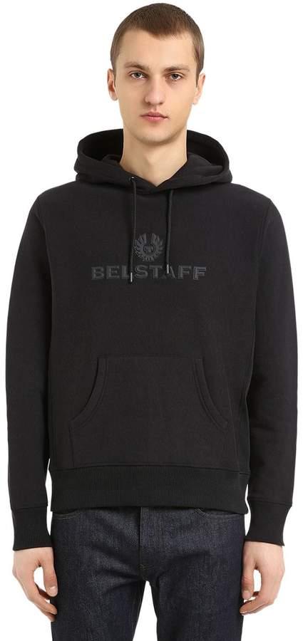 Belstaff Logo Patches Cotton Sweatshirt Hoodie