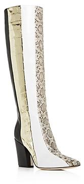 Sergio Rossi Women's 090 Patchwork High-Heel Boots