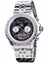 K&S KS Stainless Automatic Mechanical Tourbillon Men's Dial Date Day Wrist Watch KS009