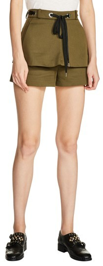 Maje Women's Double Layer Drawstring Shorts