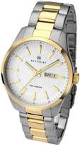 Accurist White Dial Two Tone Stainless Steel Bracelet Mens Watch