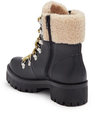 Steve Madden Aniko Faux Fur Lace-Up Boot
