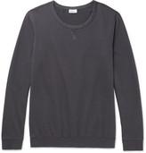 Schiesser Anton Loopback Cotton-jersey Sweatshirt - Storm blue