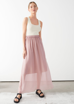 And other stories Sheer A-line Maxi Skirt