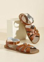 Salt Water Leather Sandal in Tan in 3 UK