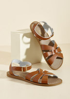 Salt Water Leather Sandal in Tan in 4 UK