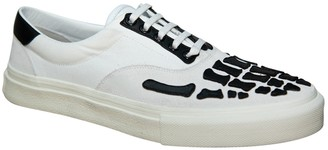 Amiri Skeleton Toe Lace Up Sneakers White & Black