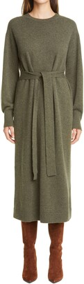 Lafayette 148 New York Long Sleeve Cashmere Midi Sweater Dress