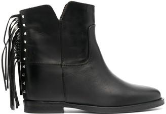 Via Roma 15 Fringe-Trimmed Ankle Boots