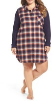 Make + Model Plus Size Women's Flannel Nightshirt
