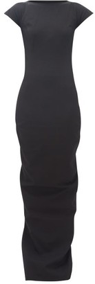 Rick Owens Easy Sarah Open-back Cotton-blend Maxi Dress - Black