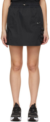 Nike Black Sportswear Swoosh Miniskirt