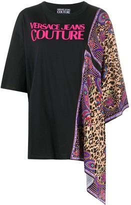 Versace Jeans Couture Paisley Leopard-print foulard T-shirt