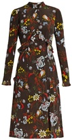 Erdem Flora Bacall Night floral-print silk dress