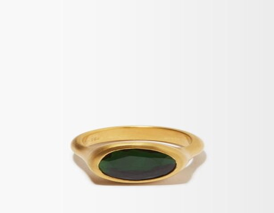 Eli Halili - Green Tourmaline & 22kt Gold Ring - Gold