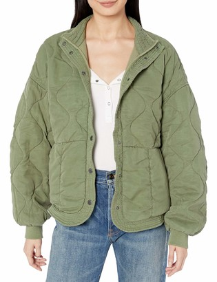 Blank NYC womensQuilted Jacket Jacket - Green - Medium